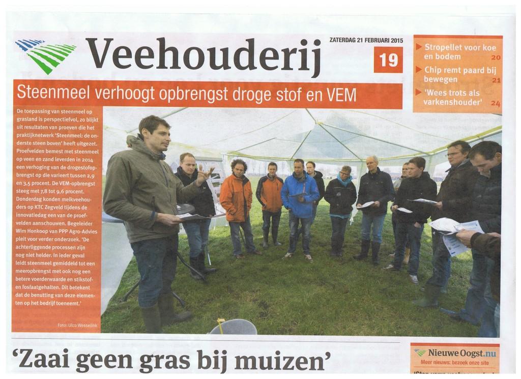 2015-02-15 Steenmeel resultaten op gras